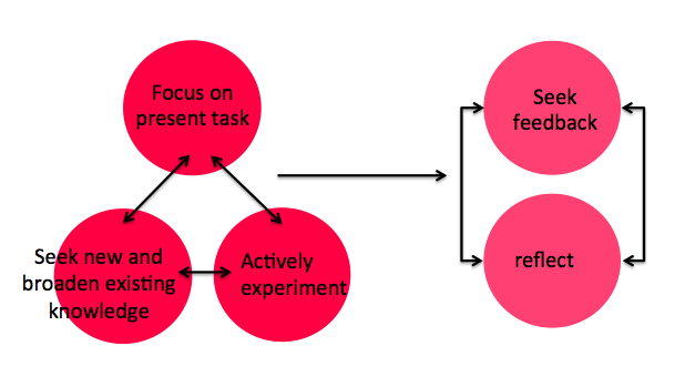 Learning oriented individuals simultaneously focus on the task at hand, learning and experimentation and then on feedback and reflection