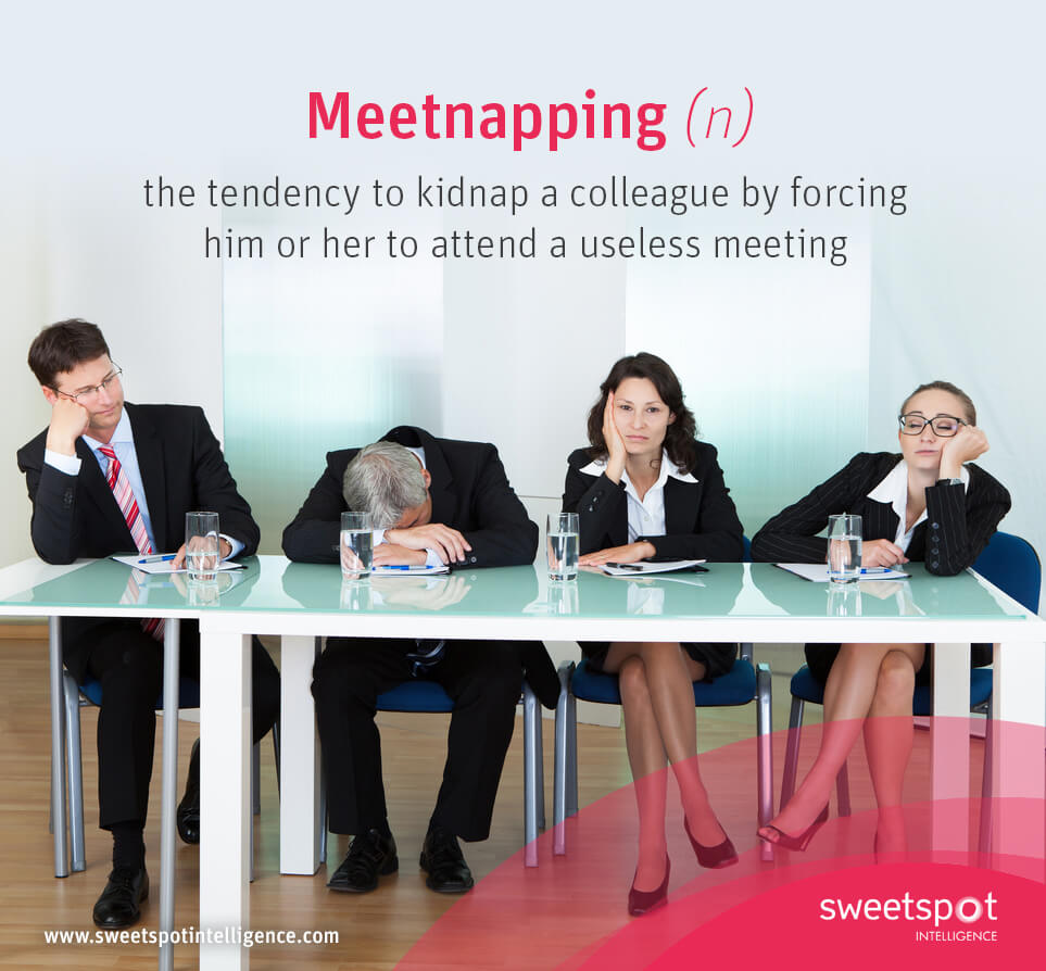 Executives trapped in a meeting