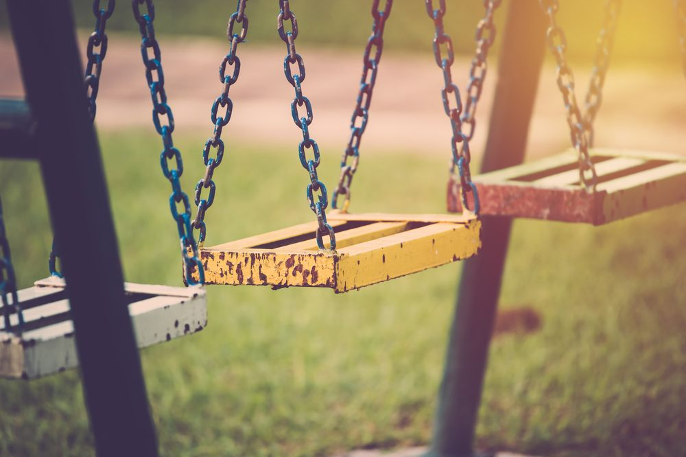 old swing set