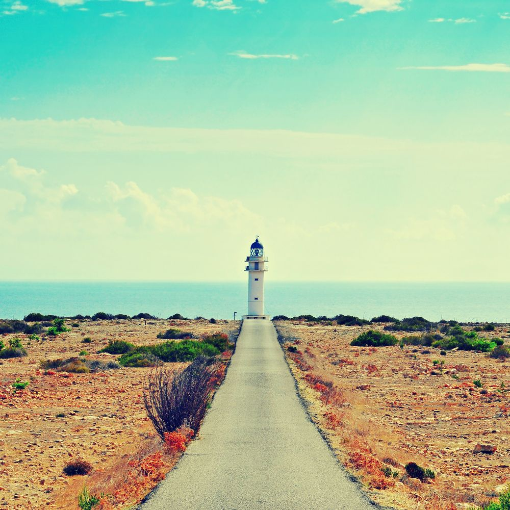 Lighthouse at the end of a path