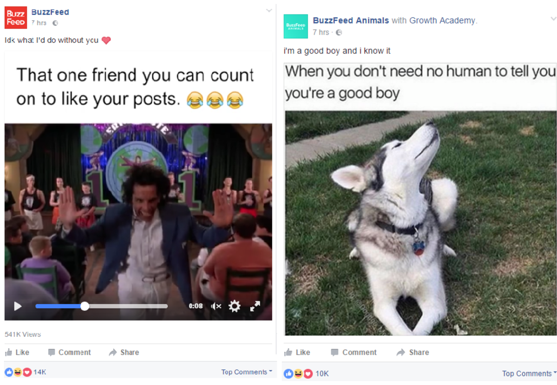 buzzfeed facebook example