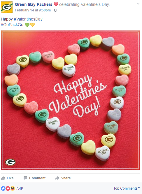 greenbay packers facebook example