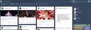 Tumblr explore page