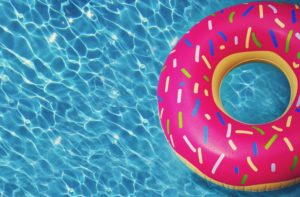 donut floaty in a pool