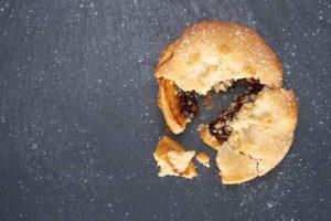 pie broken on the floor